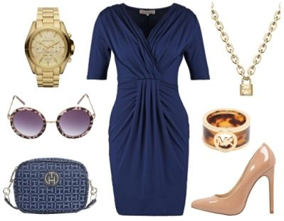 6. How To Wear Navy To Work: Navy + Chic Nude