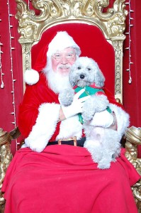 Santa on Paws & Claus night at the Galleria