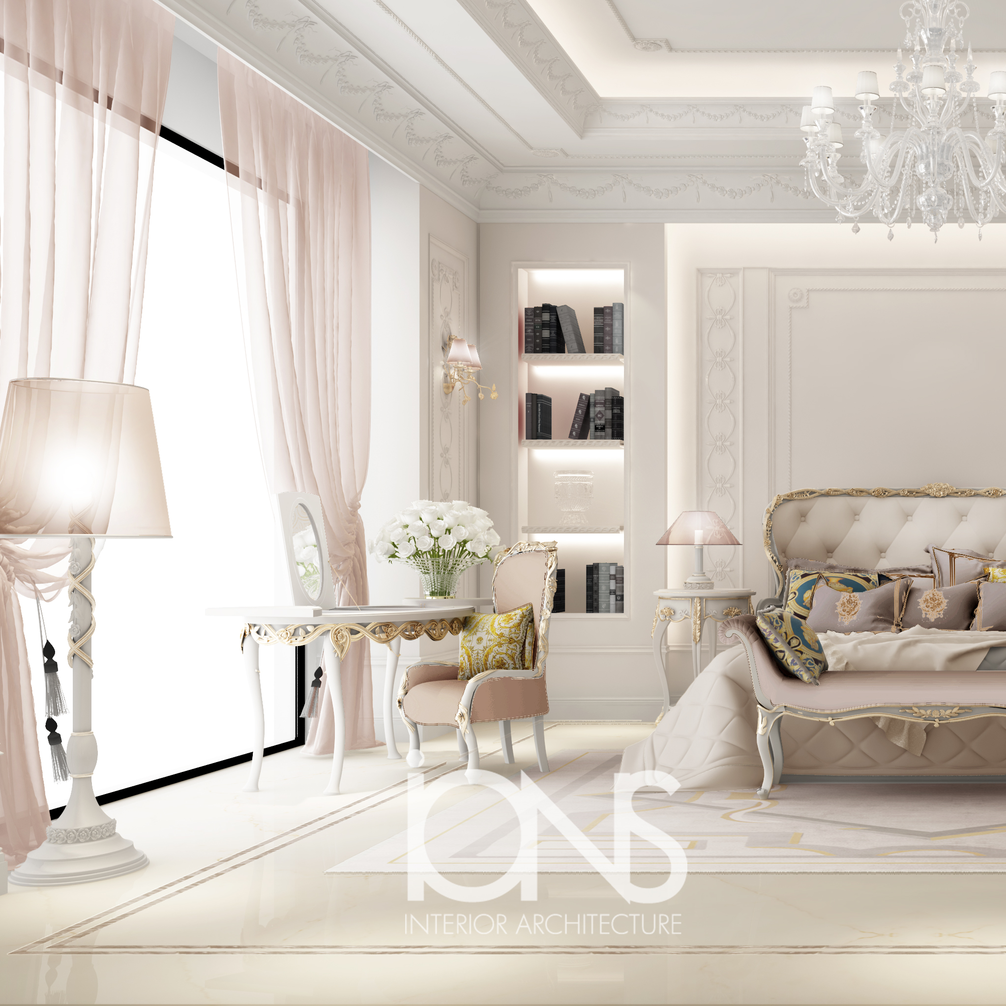 Graceful Feminine Bedroom Design