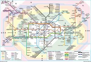 London Tube Map Zones