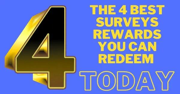 best surveys rewards