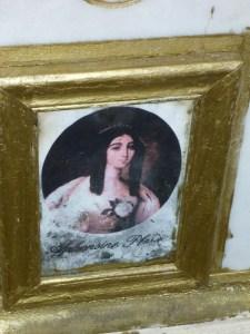 Retrato de Marie en su tumba