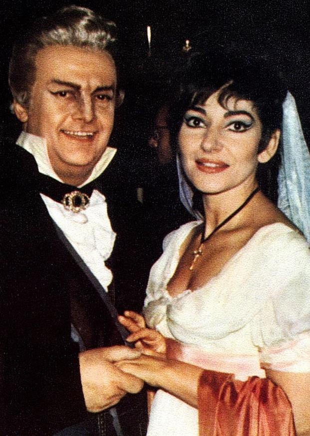 Maria Callas y Tito Gobbi