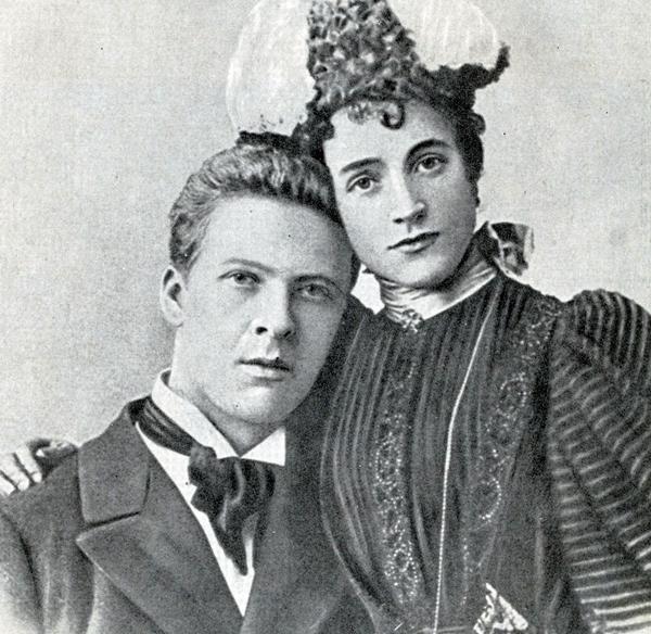Feodor Chaliapin con su esposa Iole Tornaghi