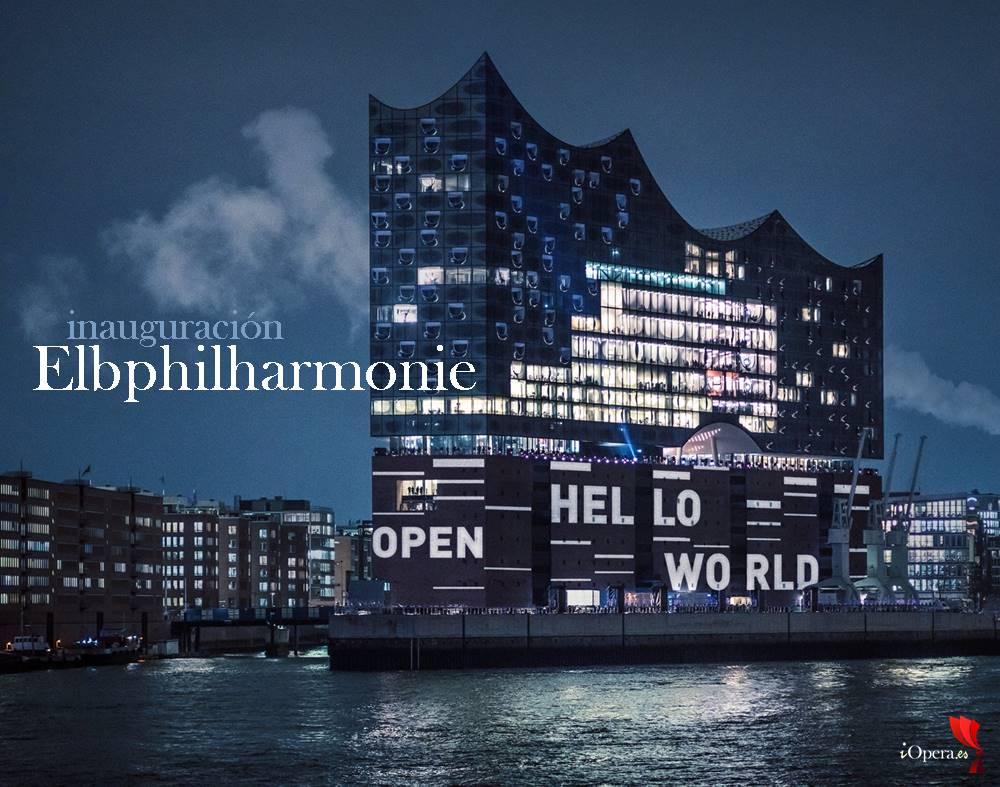 Concierto de inauguración de la Elbphilharmonie de Hamburgo elba, alemania iopera vídeo terfel
