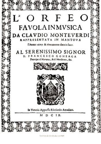 lorfeo-favola-in-musica claudio Monteverdi