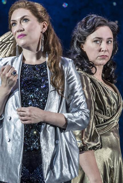 Semele de Händel por Garsington Opera Semele Heidi Stober (Semele), Christine Rice (Juno) credit Johan Persson-min