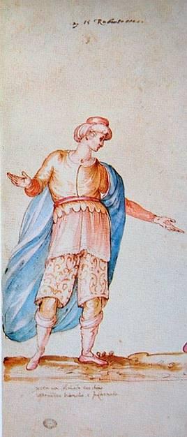Stravaganza d'Amore, la Florencia de los Medici Vestuario diseñado para el intermezzo La Pellegrina de Bernardo Buontalenti en 1589