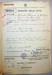 Camera di Commercio, Archivio Ditte, Fascicolo 292858