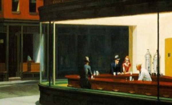 "Edward Hopper, ""Nighthawks"" - I Nottambuli (1942), Art Institute of Chicago"