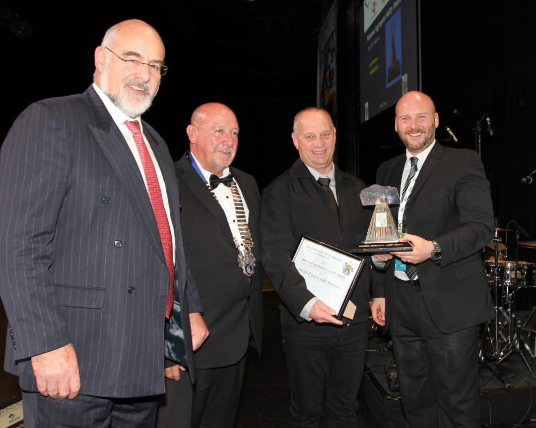 GBC Winstone' Whitehall Quarry win  Winstone Aggregates  Safety Award