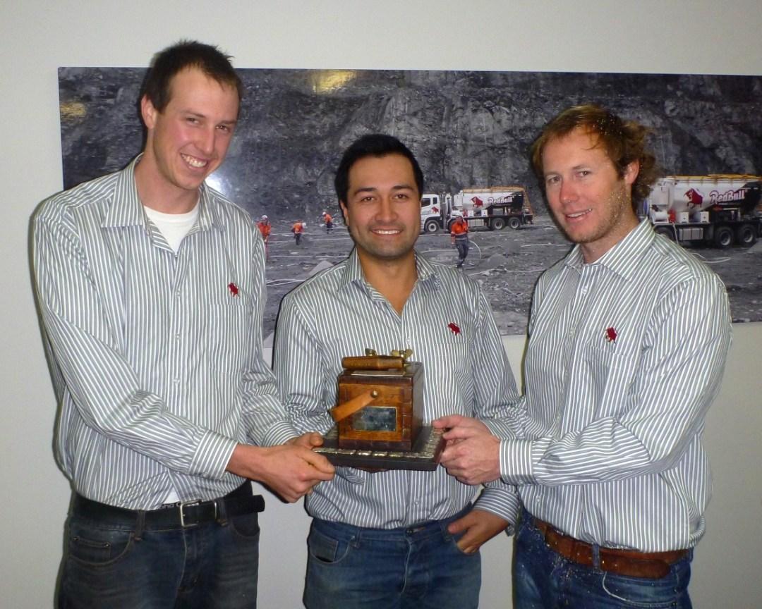 Winners of the 2013 Lyn Jordan Memorial Trophy Daniel leemeyer, Jason Tavioni, & Nick Bastow