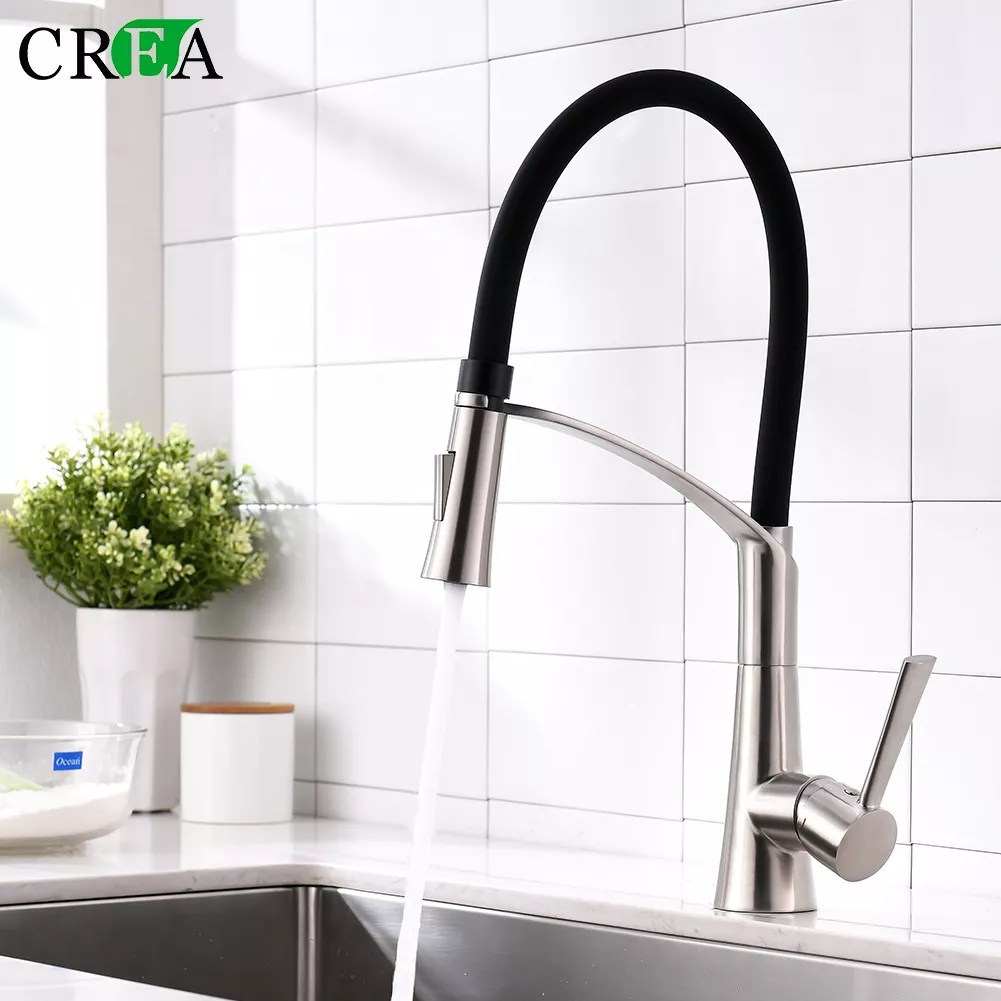 pull out kitchen faucet black