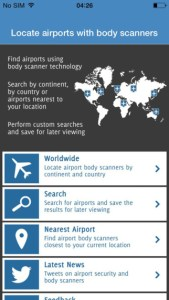 airport body scanner locator iphone app review ss1