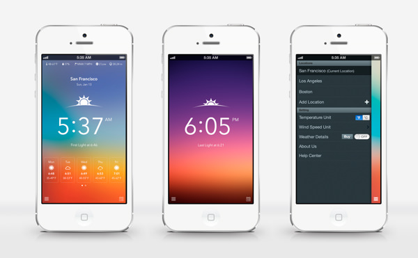 iphone app design inspiration