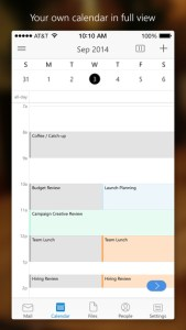 microsoft outlook for iPhone ss2