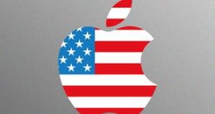 apple logo american flag