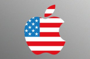 apple logo american flag