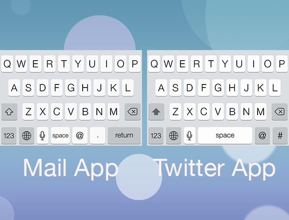 twitter mail keyboard