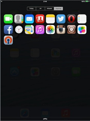 Apptray tweak iPad