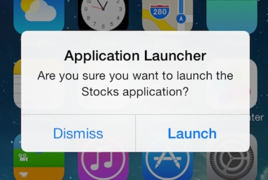 Confirm launch iOS 7 tweak