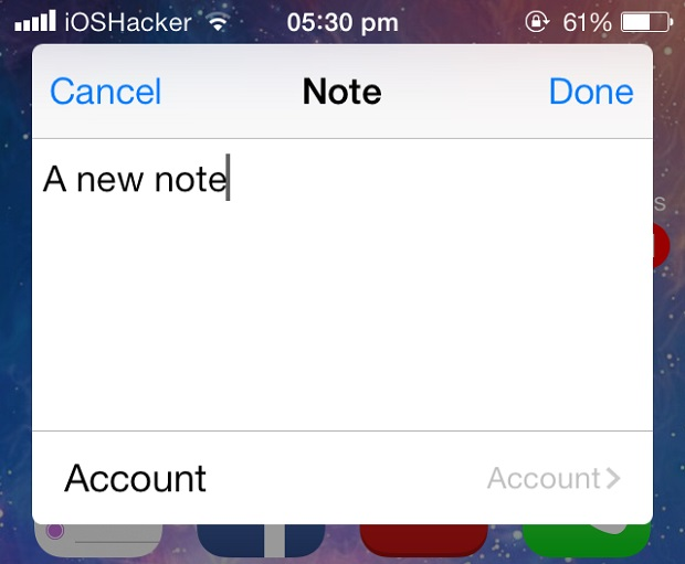 NoteCreator tweak