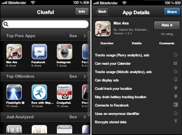 Clueful app