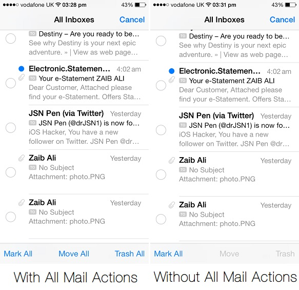 All Mail Actions tweak