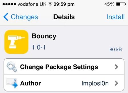 Bouncy tweak
