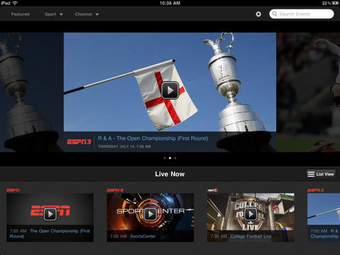 WatchESPN iOS