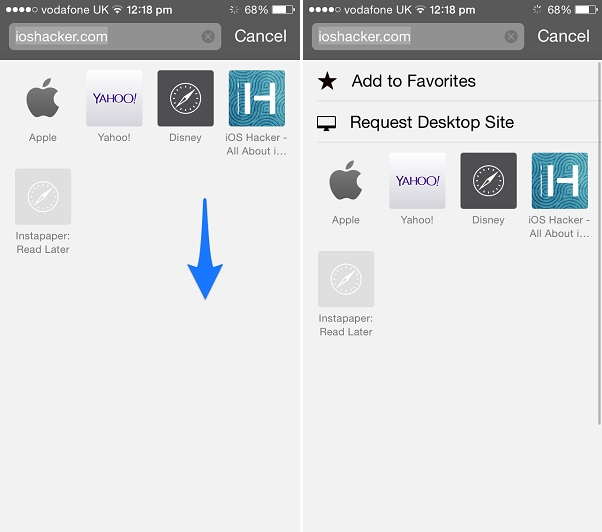iOS 8 Safari how to