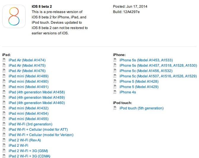 iOS 8 beta 2
