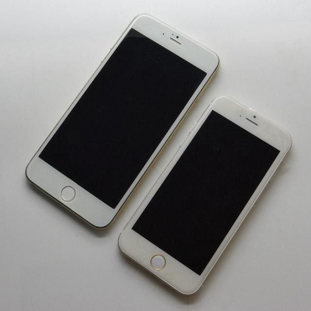 iPhone 6 gold mockups