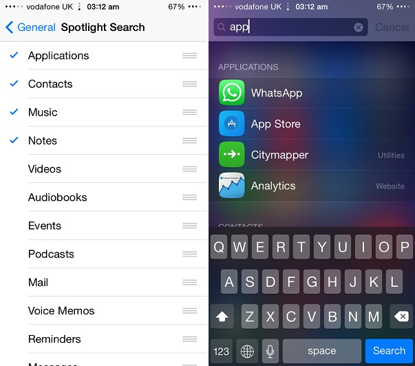 Spotlight search tip