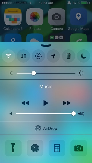 iOS 8 Control Panel Cydia
