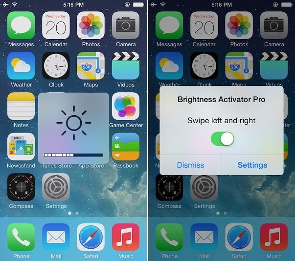 Brightness Activator Pro tweak