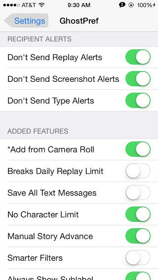 Ghostprefs tweak