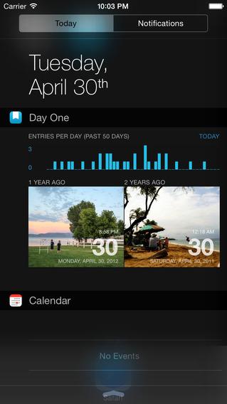 DayOne app NC