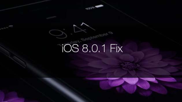 iOS 8.0.1 fix