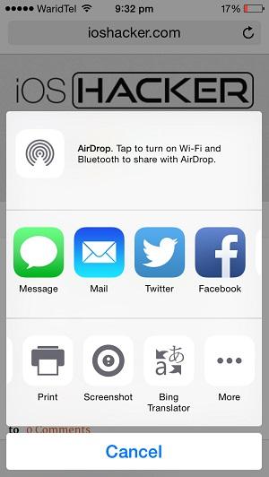 Safari translate iOS 8 (1)
