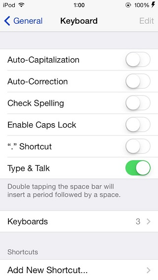 typeandtalk tweak