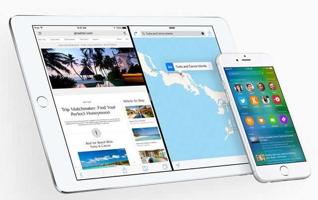 iPad split screen