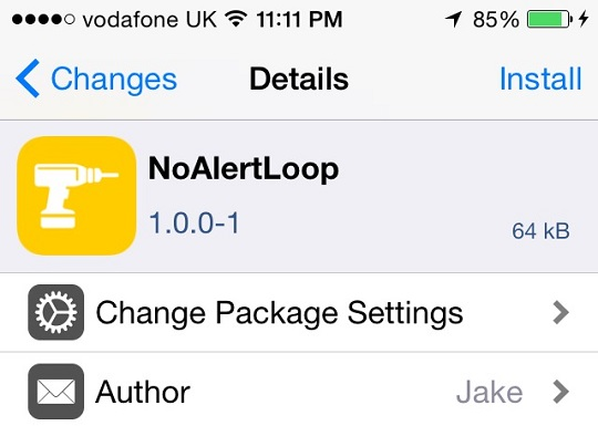 NoAlertLoop tweak