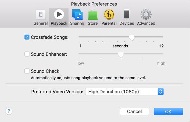 how to enable crossfade effect for music in itunes ios hacker. Black Bedroom Furniture Sets. Home Design Ideas