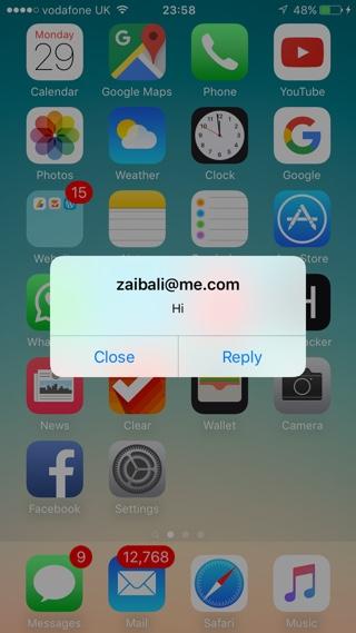 Popup alerts iOS