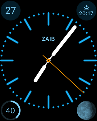 Color Watch face with mono