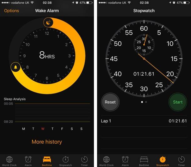 Clock iOS 10