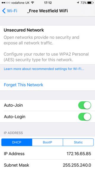 WiFi Public iOS 10