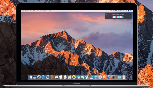 macOS Sierra official wallpaper