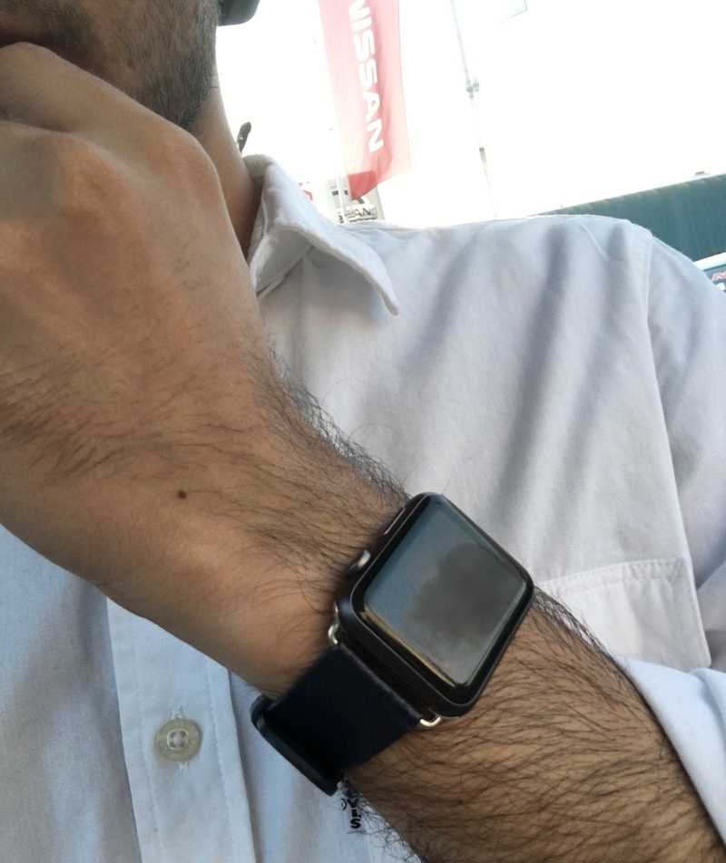 Apple Watch Olixar Blue leather